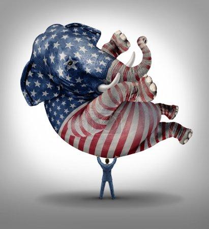 American republican vote election leadership symbo...