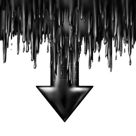 chute de pétrole