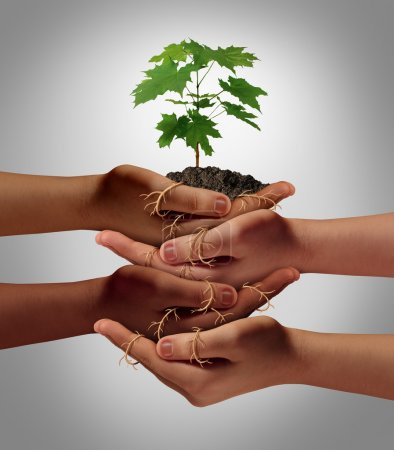 Community cooperation concept and social crowdfund...