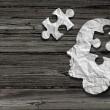 Mental health symbol Puzzle and head brain concept...