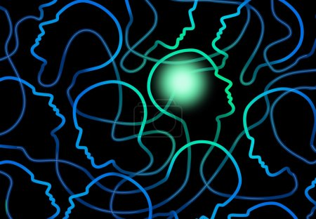Social psychology concept as a group of connected ...