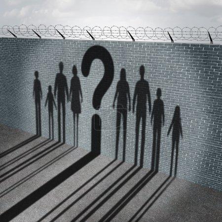 Immigration Crisis Concept