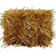 Bale of hay front view isolated on a white backgro...