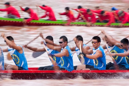 Boat racing in Pichit, Thailand