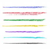 Colored brush strokes of pastel