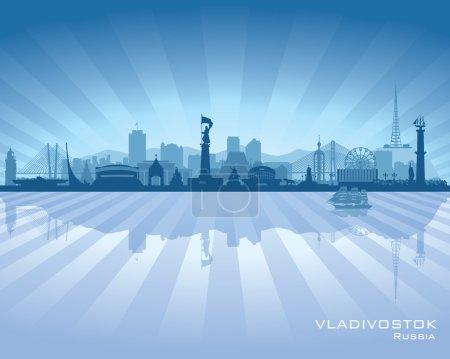 Vladivostok Russia skyline city silhouette