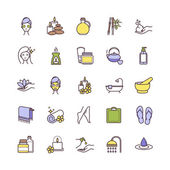 Vector Spa and Beauty thin line icons set