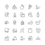 Spa and Beauty thin line vector icons set