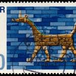 Постер, плакат: Stamp printed in East Germany shows Art of Babylon