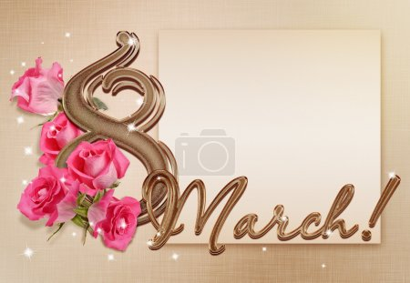 Photo for Beautiful golden background for March 8 - Royalty Free Image
