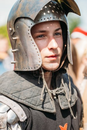 "Warrior participant of VI festival of medieval culture ""Our Grun"