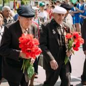 Nicht identifizierter Veteranen während der Feier des Sieges. min