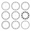 Vector illustrations of set the dials with differe...