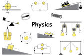 Physics and science icons set
