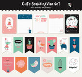 Set of cute stickers vector illustration