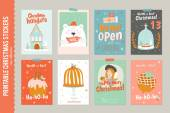 Collection of 8 Christmas gift tags and cards