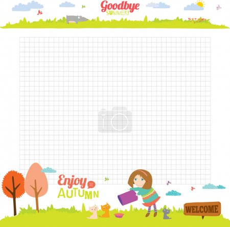 Design elements for school   notebook or  diary