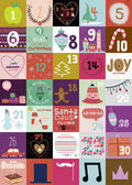Vintage Christmas and New Year greeting calendar for 2015 with cute winter elements icons typography greeting and wishes Have a very merry Christmas Good for winter design cards or posters