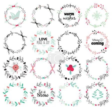 Greeting stylish Christmas illustration