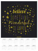 New Year wall calendar for 2015 with inspirational and motivational quotes