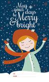 Veselé Vánoce a nový rok karta