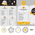 Big set of restaurant and cafe menu design, templa...