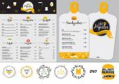Set of restaurant and cafe menu design