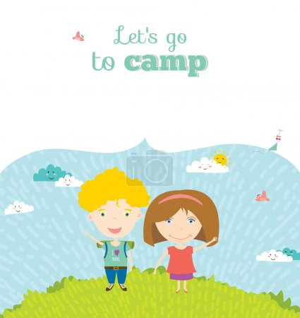 Let's go to camp with kids
