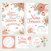 Floral Save the Date invitations