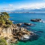 Beach landscape of Calonge, Costa Brava. Spain....