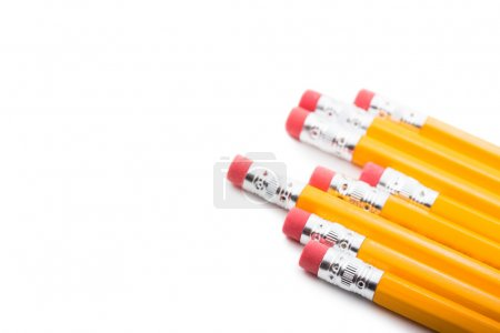 Photo for Isolated pencils with white copy space. - Royalty Free Image