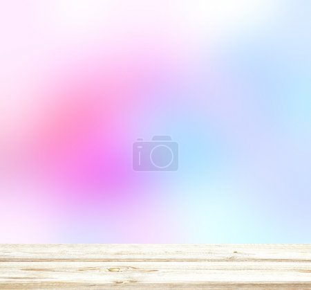 Light colorful blur backgrounds. Matte pink and purple spots on a white blur background. Hazy background. Spring background. White wooden planks surface texture.