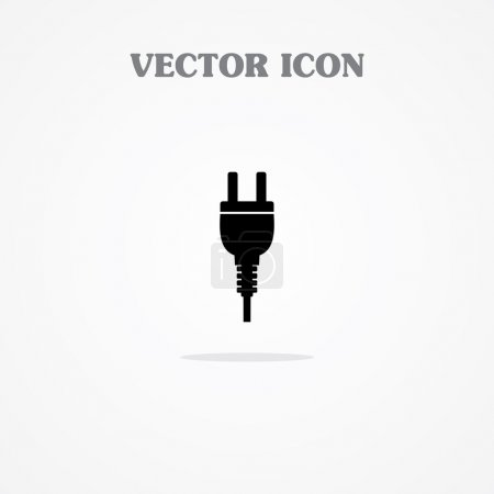 Power pin icon. Plug In