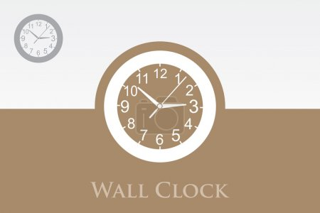 A wall clock in a modern design