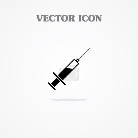 Illustration pour Icône de la seringue - image libre de droit