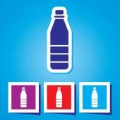 Ikona plastovou láhev s vodou