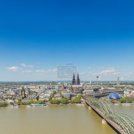 city of cologne at spring