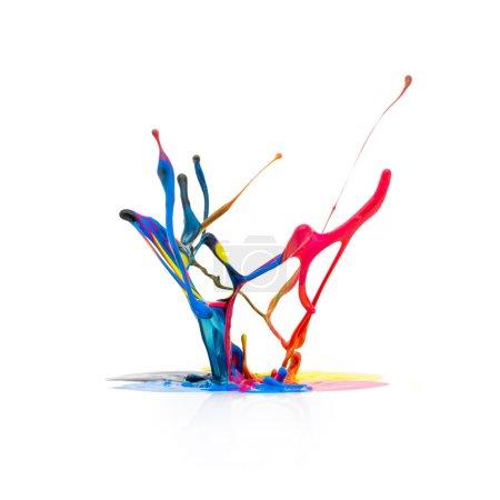 Cmyk Farbe Farben Spritzer