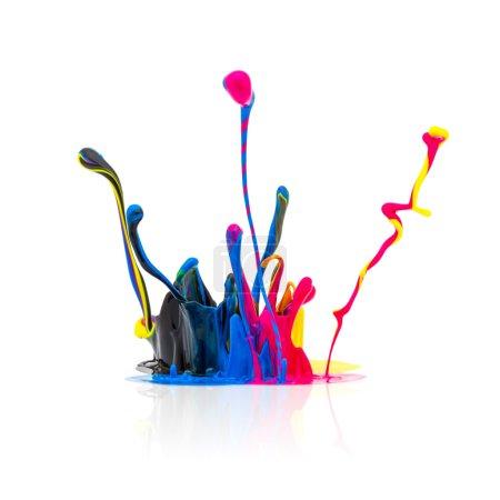 CMYK colors paint splashing