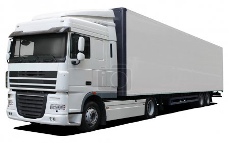 Photo for White truck DAF XF isolated on white background - Royalty Free Image