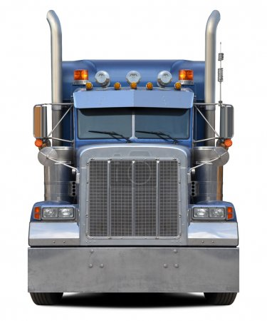 Truck front isolated on white