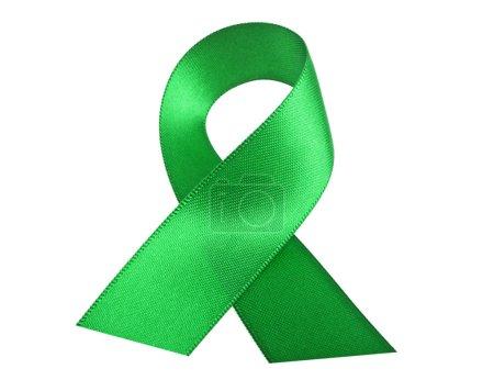 Photo pour Ruban de conscience vert isolé sur fond blanc - image libre de droit
