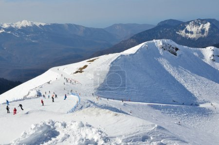 Russia, Sochi, the slopes of the ski resort Rosa Khutor