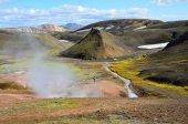 Island, horké prameny v horách