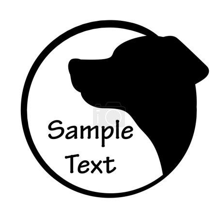 Illustration pour Illustration vectorielle de l'icône chien - image libre de droit