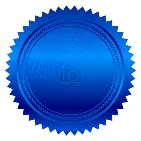 Illustration for Vector illustration of blue seal - Royalty Free Image