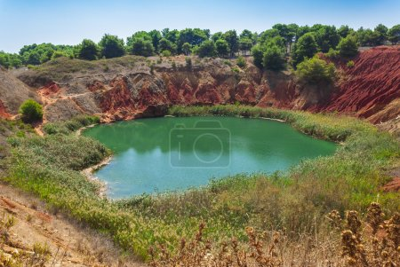 Bauxite lake in Italy