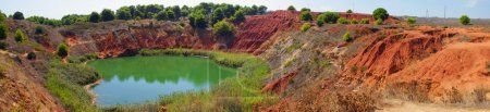 Panoramic view of Bauxite lake in Italy