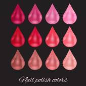 palette of pearl nail polish
