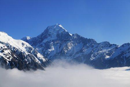 Photo pour Aoraki Mount Cook sur le sud de la Nouvelle-Zélande Jsland - image libre de droit